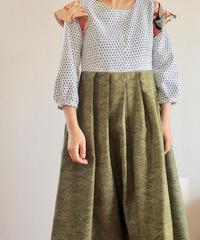 Matcha green Kimono designed Dress (no.303)