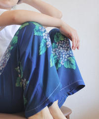 hydrangea pattern casual pants (no.161)