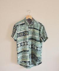 Men's Vintage Green Kimono Shirt (no.322)