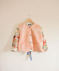 Pink & Antique Kimono Spring Short Jacket (no.264)