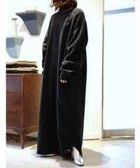 LONG SWEAT ONEPIECE【WONENS】BLACK