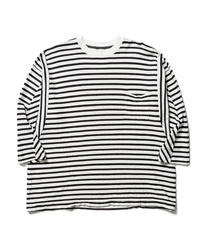 UNEVEN BORDER DOLMAN L/S【MENS】