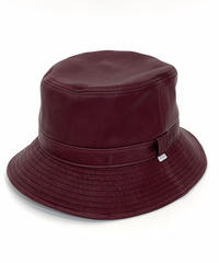 LEATHER BUCKET HAT【UNISEX】