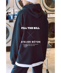 《FILL THE BILL × ATELIER BÉTON》COMFORT HOODIE SWEAT【UNISEX】