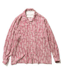JACQUARD ON PRINT OPEN COLLOR SHIRTS【WOMENS】