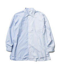 BICOLOR STRIPE SOUTIEN COLLOR SHIRTS 【MENS】