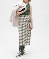 JACQUARD CHECK RAP SKIRT【WOMENS】