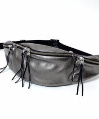 METALLIC LEATHER WAIST BAG【UNISEX】