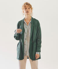 SHAWL COLLOR GATHER JACKET【WOMENS】