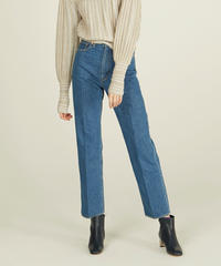 812 HIGH WAIST STRAGHT DENIM SLACKS(INDIGO WASH)【WOMENS】