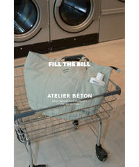 《FILL THE BILL×ATÉLIER BETON》RAUNDRY BIG TOTE【UNISEX】