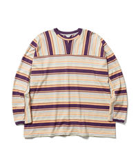 MIX BORDER LONG SLEEVE TEE【MENS】