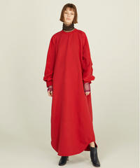 LONG SWEAT ONEPIECE【WONENS】RED