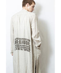 NU-1402 Linen/Ramie Reversible Long Shirt - NATURAL
