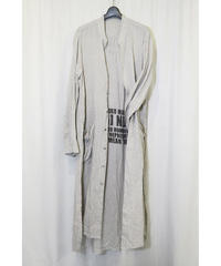 NU-1402 Linen/Ramie Reversible Long Shirt - NATURAL