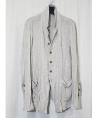 NU-1403 Linen/Ramie Washer Shirt Jacket - NATURAL