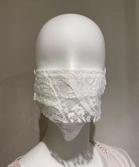 使い捨て不織布レースマスク 10枚入り Solstiss Leaver Lace WHITE