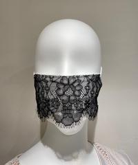 使い捨て不織布レースマスク 10枚入り SEDUCTION BLACK