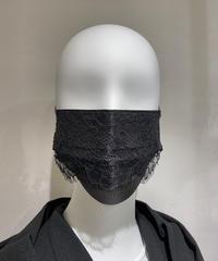 使い捨て不織布レースマスク 10枚入り SEDUCTION BLACKxBLACK