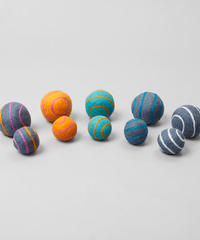STRIPED BOILED WOOL BALLS
