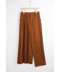 pt-22C   canyon brown asymmetry pants