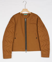 jk-43C   camel zip jacket
