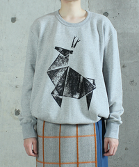 cs-34L  light gray one shika sweat