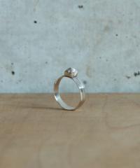 silver origami ring slim