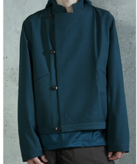 jk-44B  blue green reversible jacket