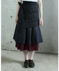 sk-11D  dark red lib reversible skirt