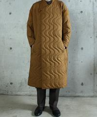 jk-42C   camel quilt coat