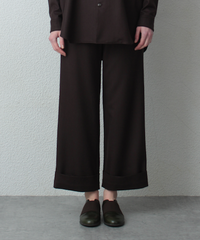dark brown wide pants