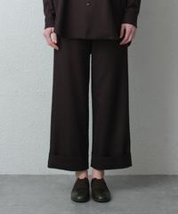 dark brown wide pants
