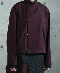 jk-44D  dark red reversible jacket