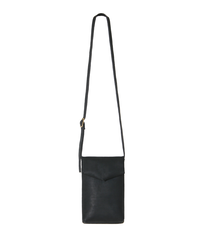 black slim letter bag