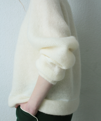 white mohair knit