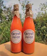 ひなた農園 ニンジンジュース 720ml 6本入り 送料別:農薬・化学肥料不使用 ニンジンのみ使用