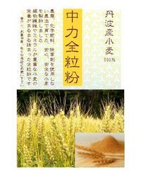 丹波産小麦粉 中力全粒粉 1kg