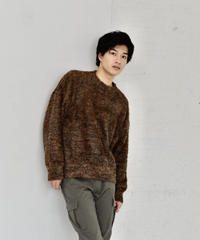 Fur Like Shaggy Knit Top