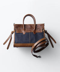 Carving&Denim Boston Bag Mini  [19Z004]