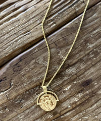 Greek Motif Coin Necklace