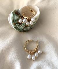 TT/Water Pearl Beauty Asymmetry Pierce
