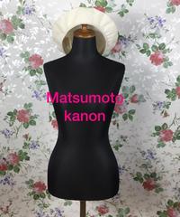 Matsumoto girl   2枚はぎのベレー帽    2019 /06㎝