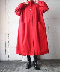 Stand Collar Snap Button Long Coat RE