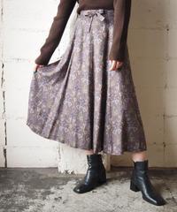 Arabesque Pattern Skirt PUR