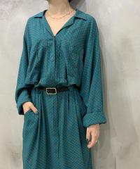 Pattern Open Collar Dress BL