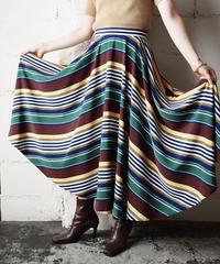 Stripe Circular Skirt NVBR