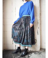 Pattern Flared Skirt BK