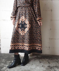 Arabesque Pattern Shirts Dress BR