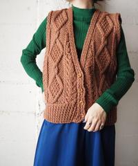 Fisherman Knit Vest BR